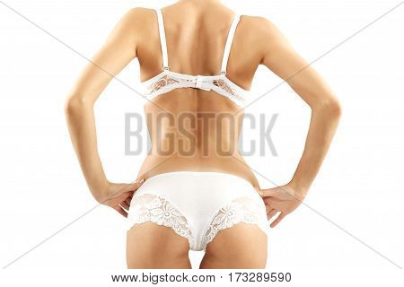Beautiful Woman In Underwear. Close Up Concept.