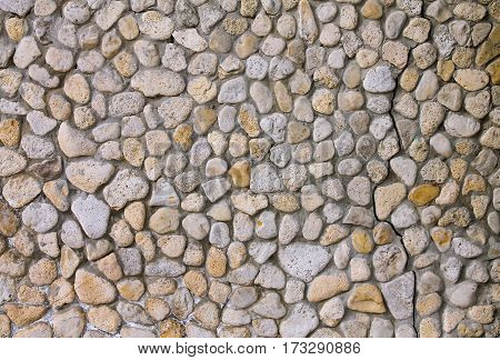 Stone background consisting of coquina and cement