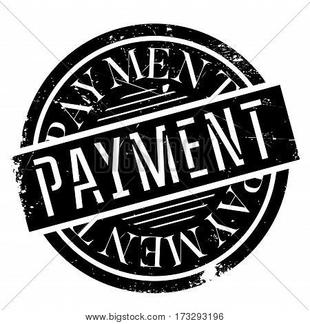 Payment rubber stamp. Grunge design with dust scratches. Effects can be easily removed for a clean, crisp look. Color is easily changed.