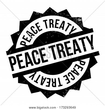 Peace Treaty rubber stamp. Grunge design with dust scratches. Effects can be easily removed for a clean, crisp look. Color is easily changed.