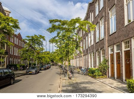 Dutch Historic Street Groningen Cityscape