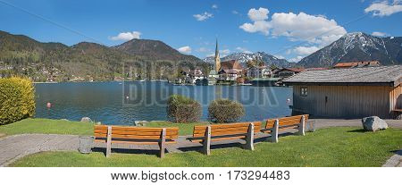 Recreational Area Spa Town Rottach-egern At Lake Tegernsee