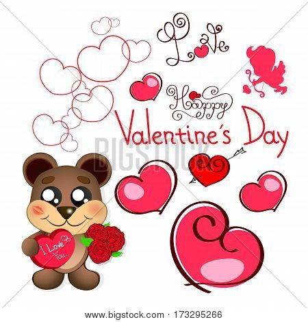 Cute Valentine s Day Teddy Bear with Heart That Says Mine