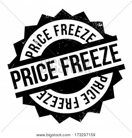 Price Freeze rubber stamp. Grunge design with dust scratches. Effects can be easily removed for a clean, crisp look. Color is easily changed.