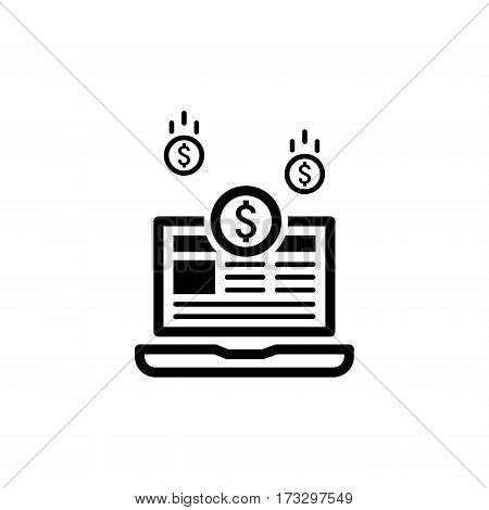 Monetization Icon. Business Concept. Flat Design. Isolated Illustration.