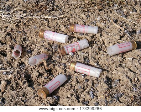 Used bullets,Pictures of used bullets and cartridges.