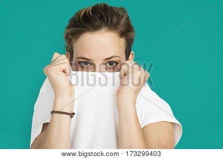 Woman Casual Portrait Photography Concept