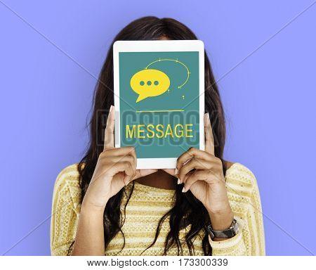 Internet Message Social Platform Text Icon