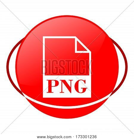 Red icon, png file vector illustration on white background