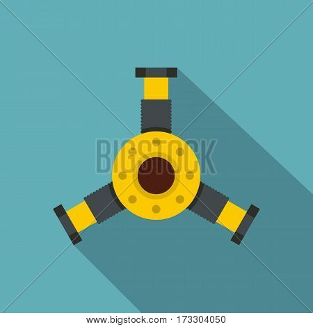 Round mechanic detail icon. Flat illustration of round mechanic detail vector icon for web