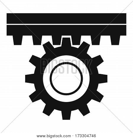 One gear icon. Simple illustration of one gear vector icon for web