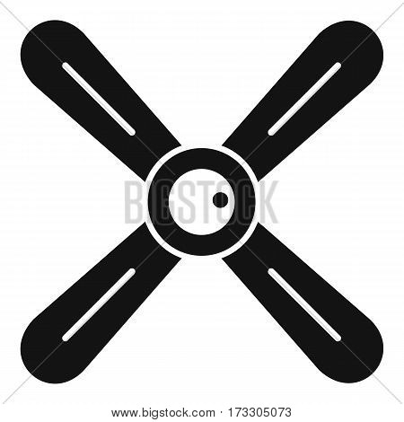 Propeller icon. Simple illustration of propeller vector icon for web