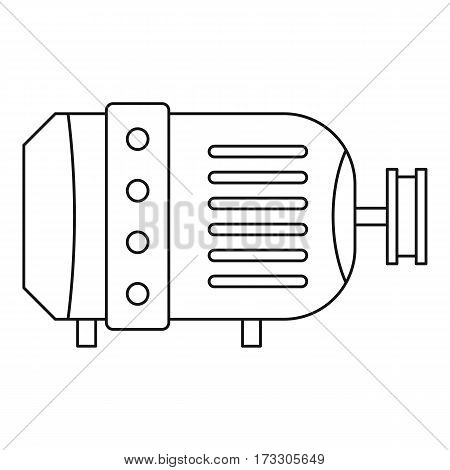 Electric motor icon. Outline illustration of electric motor vector icon for web