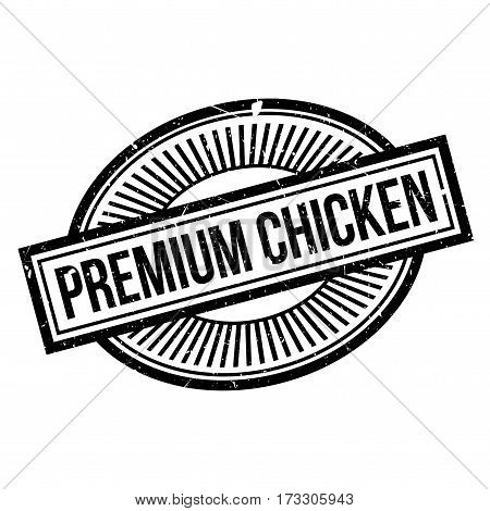Premium Chicken rubber stamp. Grunge design with dust scratches. Effects can be easily removed for a clean, crisp look. Color is easily changed.