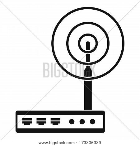Wifi router icon. Simple illustration of wifi router vector icon for web
