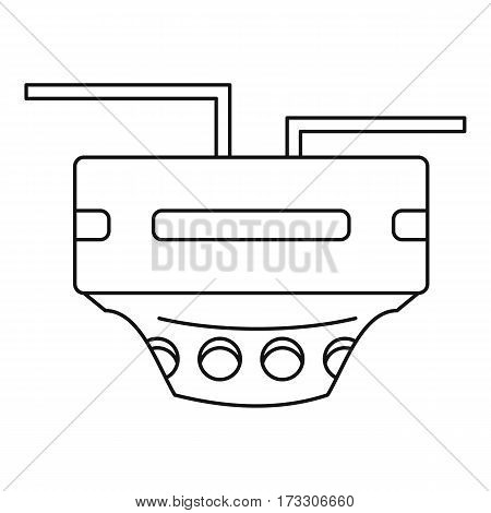 Monitor socket icon. Outline illustration of monitor socket vector icon for web