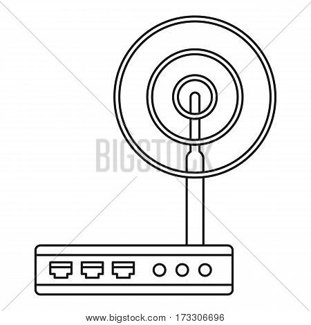 Wifi router icon. Outline illustration of wifi router vector icon for web