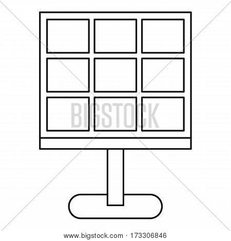 Solar battery icon. Outline illustration of solar battery vector icon for web