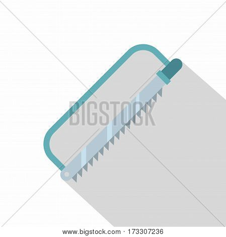 Surgical saw icon. Flat illustration of surgical saw vector icon for web