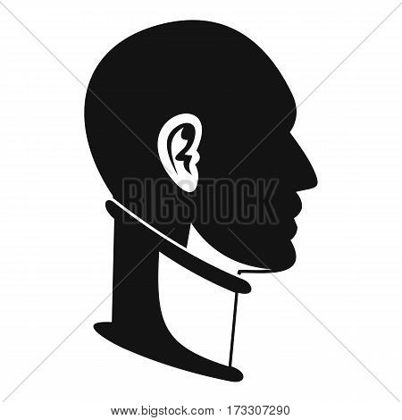 Cervical collar icon. Simple illustration of cervical collar vector icon for web