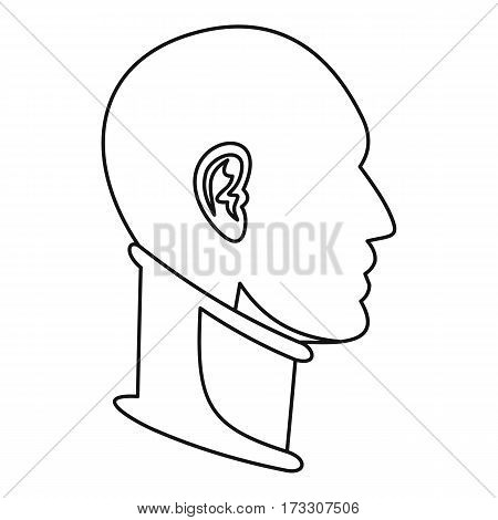 Cervical collar icon. Outline illustration of cervical collar vector icon for web
