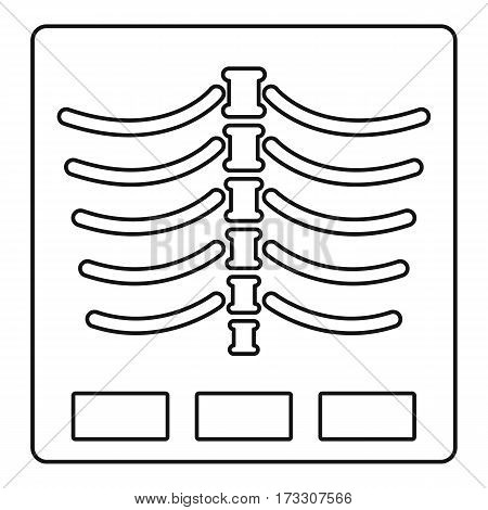 X ray photo icon. Outline illustration of x ray photovector icon for web