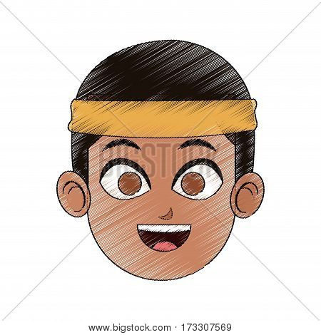 young handsome man with headband  icon image vector illustration design