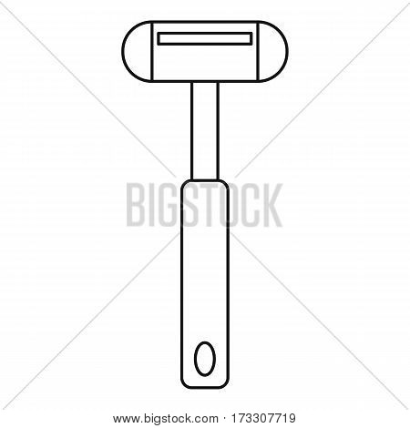 Reflex hammer icon. Outline illustration of reflex hammer vector icon for web