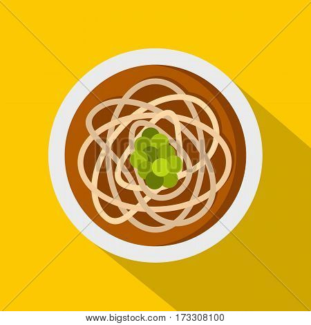 Asian noodles icon. Flat illustration of asian noodles vector icon for web