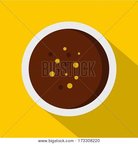 Hot sauce icon. Flat illustration of hot sauce vector icon for web
