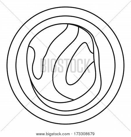 Asian meat icon. Outline illustration of asian meat vector icon for web