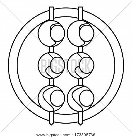 Asian shashlik icon. Outline illustration of asian shashlik vector icon for web