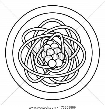 Asian noodles icon. Outline illustration of asian noodles vector icon for web