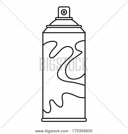 Colored spray icon. Outline illustration of colored spray vector icon for web
