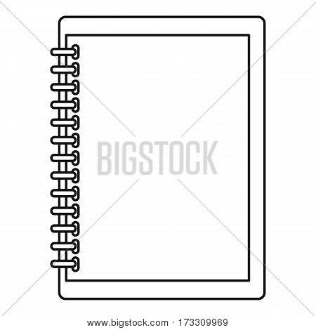 Sketchbook icon. Outline illustration of sketchbook vector icon for web