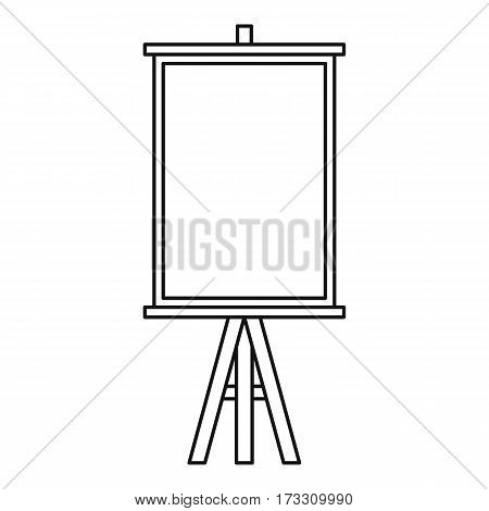 Easel icon. Outline illustration of easel vector icon for web