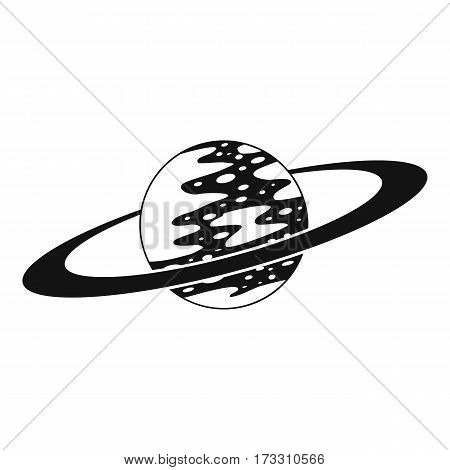 Saturn icon. Simple illustration of saturn vector icon for web