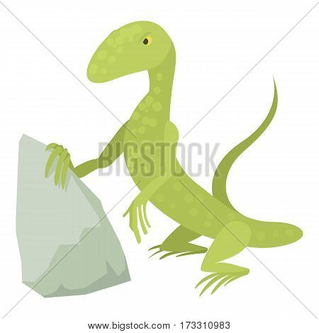 Standing lizard icon. Cartoon illustration of standing lizard vector icon for web