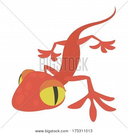 Gecko icon. Cartoon illustration of gecko vector icon for web
