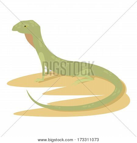 Curious lizard icon. Cartoon illustration of curious lizard vector icon for web
