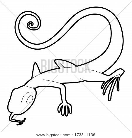 Lizard icon. Outline illustration of lizard vector icon for web