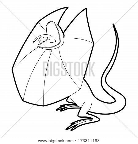 Frill necked lizard icon. Outline illustration of frill necked lizard vector icon for web