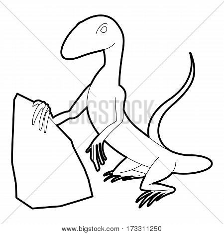 Standing lizard icon. Outline illustration of standing lizard vector icon for web