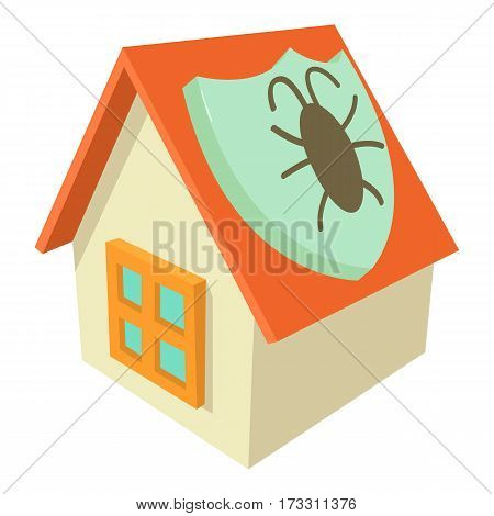 Disinfection house icon. Cartoon illustration of disinfection house vector icon for web
