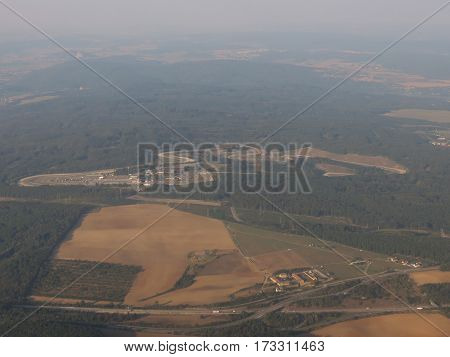 Brno Masaryk motorbike circuit in Ostrovacice - aerial view