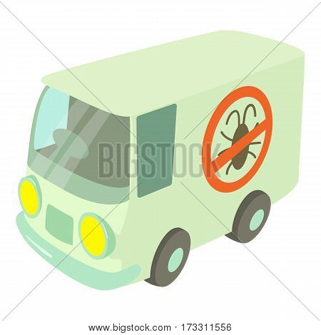 Disinfection car icon. Cartoon illustration of disinfection car vector icon for web