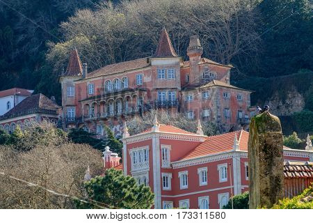 View of the Center of Sintra in Portugal