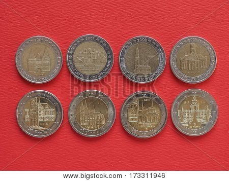 2 Euro Coins, European Union, Germany