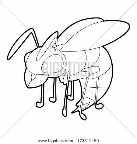 Wasp icon. Outline illustration of wasp vector icon for web