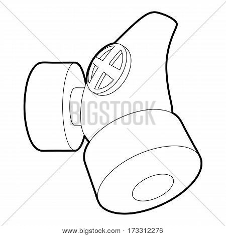 Respirator icon. Outline illustration of respirator vector icon for web
